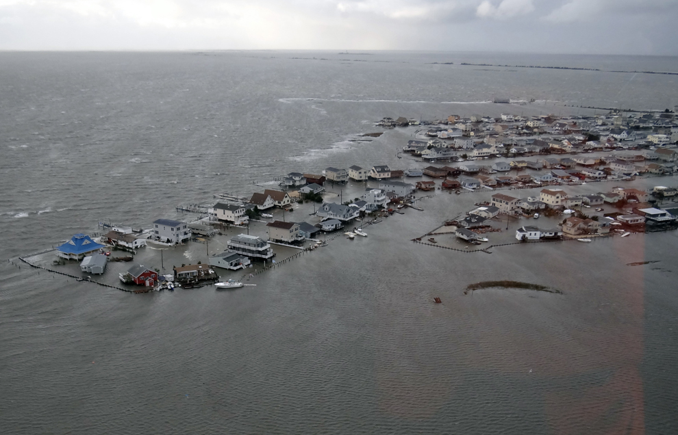 Hurricane Sandy Floods Homes