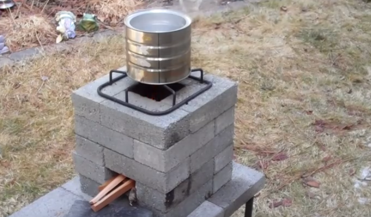 How to build a better brick rocket stove for 10 for How to make a rocket stove with bricks