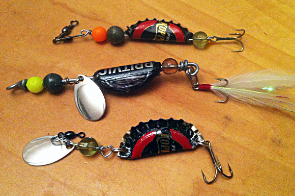 make fishing lures out of bottle caps