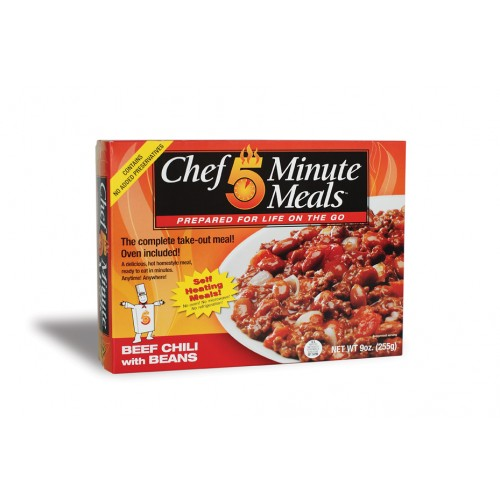Case of Chef 5 Minute Meals Beef Chili with Beans