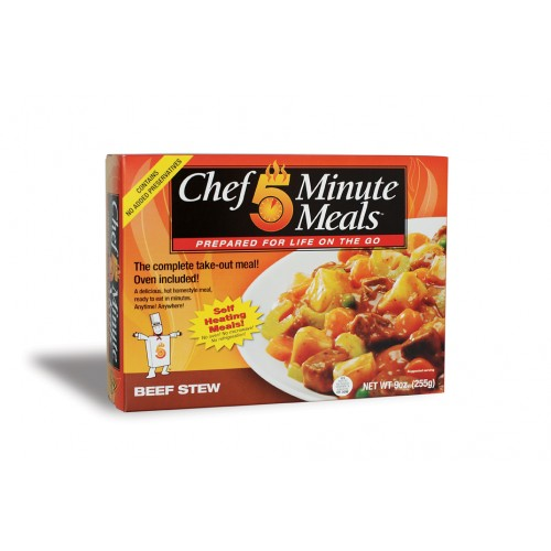 Case of Chef 5 Minute Meals Beef Stew