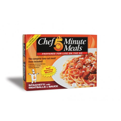 Case of Chef 5 Minute Meals Spaghetti with Meatballs in Sauce