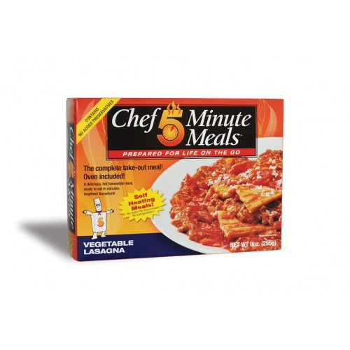 Case of Chef 5 Minute Meals Vegetable Lasagna